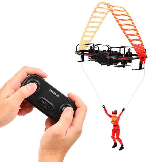 dron paracaidista